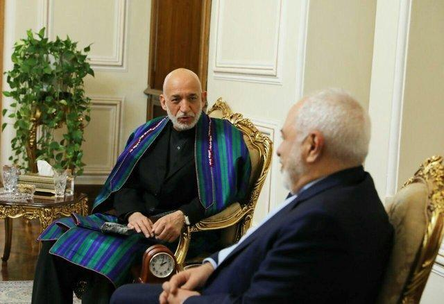 رایزنی کرزای با ظریف در مورد روند صلح در افغانستان